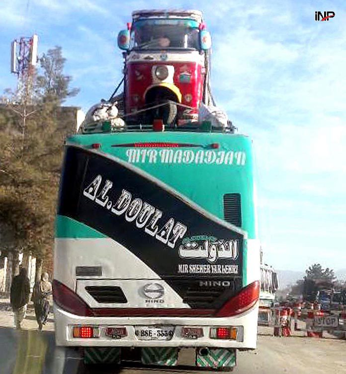 Quetta A View Of Rickshaw On Passengers Bus Came From Karachi Enters Into Quetta City Inp Photo By Adnan Ahmed Photo Gallery News